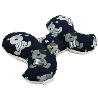 Poduszka antywstrząsowa 'Teddy nocą' biały